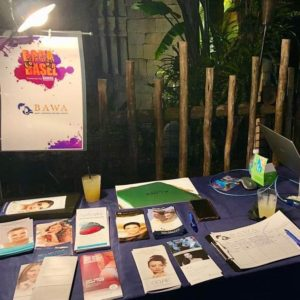 Dr. Bawa's booth at the Boca Basel event