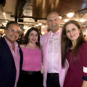 Dr. Bawa attending the real men wear pink event